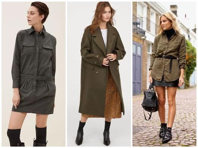 Vestire con abbigliamento militare
