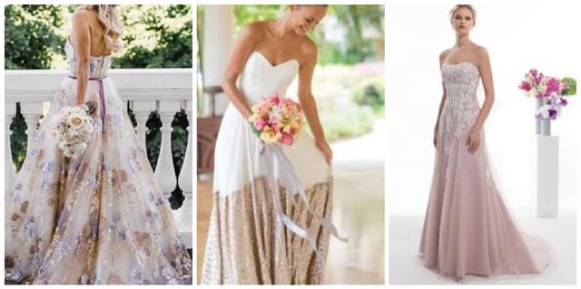 Scegliere un abito da sposa colorato
